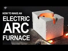 How To Make An Electrical Arc Furnace by grantsprojects: How to hack flashlight batteries and a fire brick, into a desktop arc reaction chamber. For hobby metal melting, and for science! Metal Projects, Welding Projects, Engineering Projects, Weekend Projects, Projects To Try, Refractory Brick, Melting Metal, Blacksmith Tools, Aluminum Cans