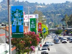 Exhibit | AG Media Niche Outdoor - City Light Pole Banners Outdoor Advertisment