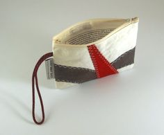 Recycled Sails Sail Bag Nautical Wristlet Small by HoistAwayBags