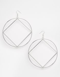 ASOS Open Geo Circle Earrings