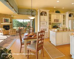 """Breakfast Nook. The Sater Design Collection's luxury farmhouse home plan """"Hammock Grove"""""""