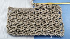 Free photo crochet tutorial. The pattern consists of two repetitive rows, so it will be very nice to look at multi-colored stripes. With that, no matter what row you start with another color - even or odd.