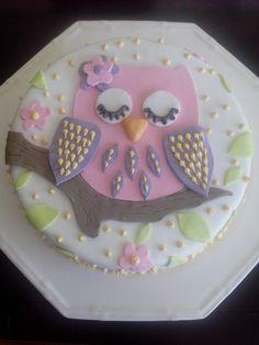 Owl Cake Birthday, 2nd Birthday, Owl Cakes, Animal Cakes, Baby Shower, Cheesecakes, Cake Designs, Cookie Decorating, Owls