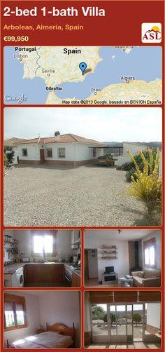 2-bed 1-bath Villa in Arboleas, Almeria, Spain ►€99,950 #PropertyForSaleInSpain
