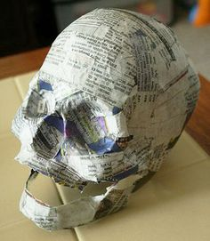 halloween paper mache skull tutorial -- this is the diy i feel like ive been sea. - halloween paper mache skull tutorial — this is the diy i feel like ive been searching for all my life. great way to make a lot of easily customizable skulls for CHEAP Holidays Halloween, Fall Halloween, Halloween Crafts, Halloween Party, Halloween Skull, Diy Halloween Props, Halloween Clothes, Cheap Halloween, Halloween Skeletons