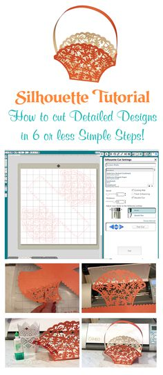 Don't be afraid of cutting detailed designs with the Silhouette machine. You can do it with this simple Silhouette tutorial that breaks it down into 6 steps or less! @Karen Jacot Jacot Boudreau America