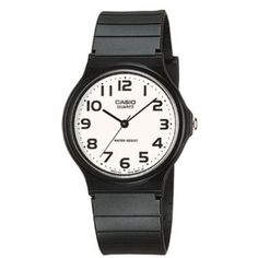 77201015ce1 Round watch with logoed white dial featuring Arabic numeral markers 35 mm  plastic case with protective resin glass dial window Quartz movement with  analog ...