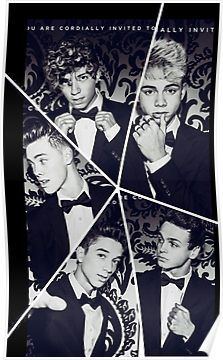 Black and White Why Don't We Collage Poster