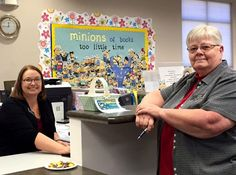 """Minions"" of reasons to visit Britton Public Library #SDSLCornerstone"