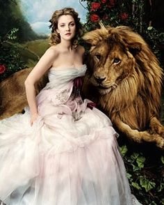 One of my favorites. Annie Leibovitz DREW BARRYMORE - THE BEAUTY AND THE  BEAST
