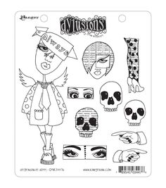 Dyan Reaveley's Dylusions Cling Stamp Collection-Dependable Dotty