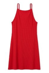 <p>The Bella Dress has an A-lined silhouette, skinny shoulder straps, a straight neckline in front and a slightly lower back neck. It is made from a finely ribbed jersey fabric.</p><p>- Size Small measures 75 cm in chest circumference and 80 cm in length.</p>