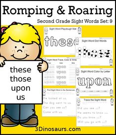 Romping & Roaring Second Grade Sight Word Set Pull, Read, Right, Sing Reading Activities, Teaching Reading, Fun Learning, Free Reading, Reading Tips, Speech Activities, Early Learning, Reading Buddies, Reading Help