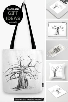 Searching for the perfect gift or maybe something small to add to a larger gift? Visit my store for a selection of gifts ideas -- wall art, tote bags, throw pillows, face masks, laptop skins, notebooks, stickers and more -- all with baobab tree prints. #baobabtreedrawing #blackandwhiteart #society6 Tree Wall Art, Wall Art Decor, Wall Art Prints, Artwork For Living Room, Living Room Pictures, Black And White Wall Art, White Ink, Baobab Tree, Plant Drawing