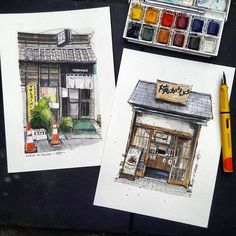 "611 Beğenme, 3 Yorum - Instagram'da A Travel Diary (@_atraveldiary_): ""Japan  - @edwinrei04 • • • • • • Repost from @edwinrei04 - Japanese front shop . #watercolor…"""