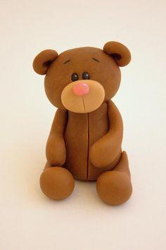Bespoke Fondant Teddy Bear Cake Topper/Decoration. £12.00, via Etsy.