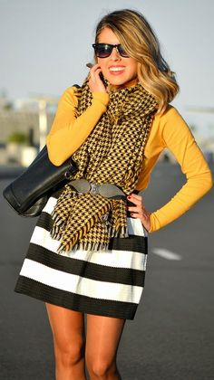 #Stripes And #Houndstooth by Blonde Merry => Click to see what she wears