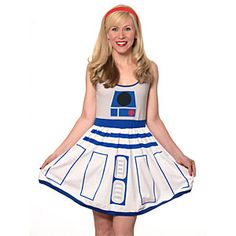 ThinkGeek :: R2-D2 Fit and Flare Dress