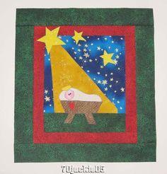 Creche  NATIVITY Christmas Mini Quilt Top+Binding Laurel Burch  Northcott Fabric #LaurelBurchNorthcott