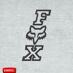 Fox Vertical Logo - Embroidery Download