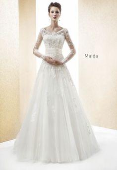 Vestidos de noiva de manga longa 2014 [Foto]