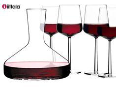 iittala, Essence, carafe à décanter + 4 verres à vin rouge