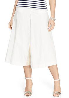 Lauren Ralph Lauren Plus Size Wide-Leg Poplin Culottes