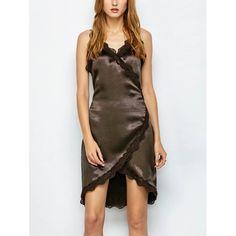 22.44$  Watch now - http://didzi.justgood.pw/go.php?t=207513402 - Lace Trim Wrap Dress