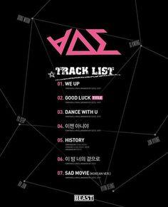 BEAST / B2ST 비스트 ∀ΔΣ good luck 6th mini album tracklist