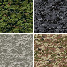digital camouflage seamless patterns - Patterns Decorative