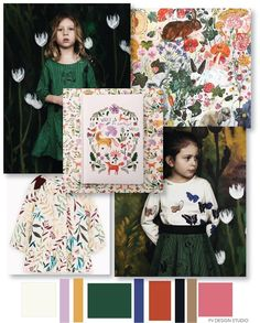 KIDSWEAR PRINT + PATTERN - AW 2018/19 Patternbank is an exceptionally great resource with over 20 years in the print, graphics an...
