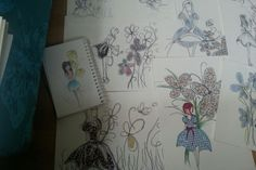 Draw girl textile #delightbydorcas