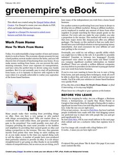 work-from-home-e-book by greenempire via Slideshare