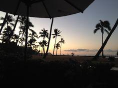 A late February sunrise in Waikiki.