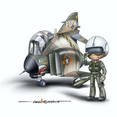 The VNAF never operated the Phantom but there was a request from the South… Airplane Drawing, Airplane Art, Cartoon Plane, Airplane Humor, Caricatures, Fly Drawing, F4 Phantom, Dragon City, Military Aircraft