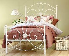 Jednoosobowe białe łóżko metalowe WIVIEN Dostępne na www.artbed.pl