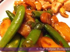 The Purple Pumpkin Blog: Stir Fried Snowpeas and Water Chestnuts