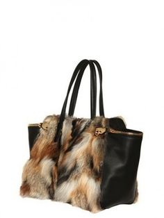 Handbag con pelliccia Salvatore Ferragamo