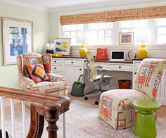 A landing is a great space for an at-home office!