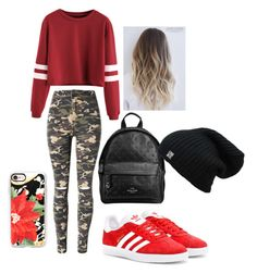 """""""Outfit when you are going park"""" by pauliina-lehtikevari on Polyvore featuring WithChic, adidas Originals, Coach and Casetify"""