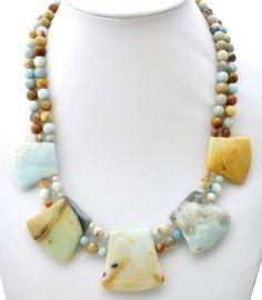 Jay King Sterling Silver Necklace Jasper Marble Quartz Desert Rose Trading DTR | eBay