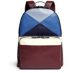 Valentino x Esther Stewart leather backpack ($3,995) ❤ liked on Polyvore featuring mens, men's bags and men's backpacks