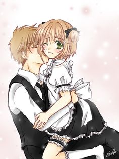Saoran and Sakura Manga Love, Anime Love, Manga Art, Manga Anime, Cardcaptor Sakura Clear Card, Anime City, Xxxholic, Card Captor, Syaoran