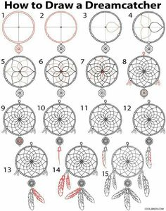 How to draw a dreamcatcher