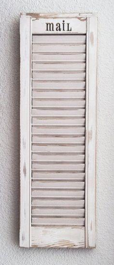 Shutter Mail Organizer -- attach to inside door of armoir!