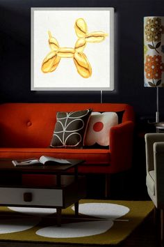Balloon Dog Lux LED Canvas Lightbox by Oliver Gal Gallery on @HauteLook