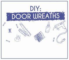 Washi Tape Crafts, Door Wreaths, Doors, Diy, Home Decor, Decoration Home, Bricolage, Room Decor, Interior Design