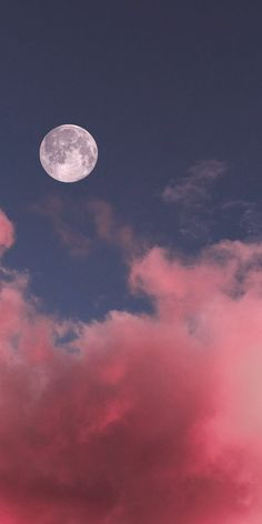 Full moon in the pink sky wallpaper ~ Mobile wallpapers hd, free Mobile backgrounds Night Sky Wallpaper, Cloud Wallpaper, Scenery Wallpaper, Sunset Wallpaper, Aesthetic Pastel Wallpaper, Cute Wallpaper Backgrounds, Pretty Wallpapers, Galaxy Wallpaper, Colorful Wallpaper