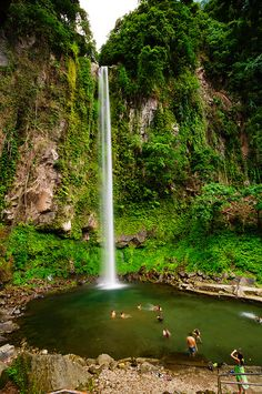 Swimming at Katibawasan Falls, Camiguin, Philippines (by rodrigo layug)