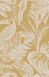 Powder Room Wallpaper, Gold Wallpaper, Wallpaper Direct, Bathroom Wallpaper, Burke Decor, Better Homes And Gardens, Elle Decor, Leaf Design, Designer Wallpaper
